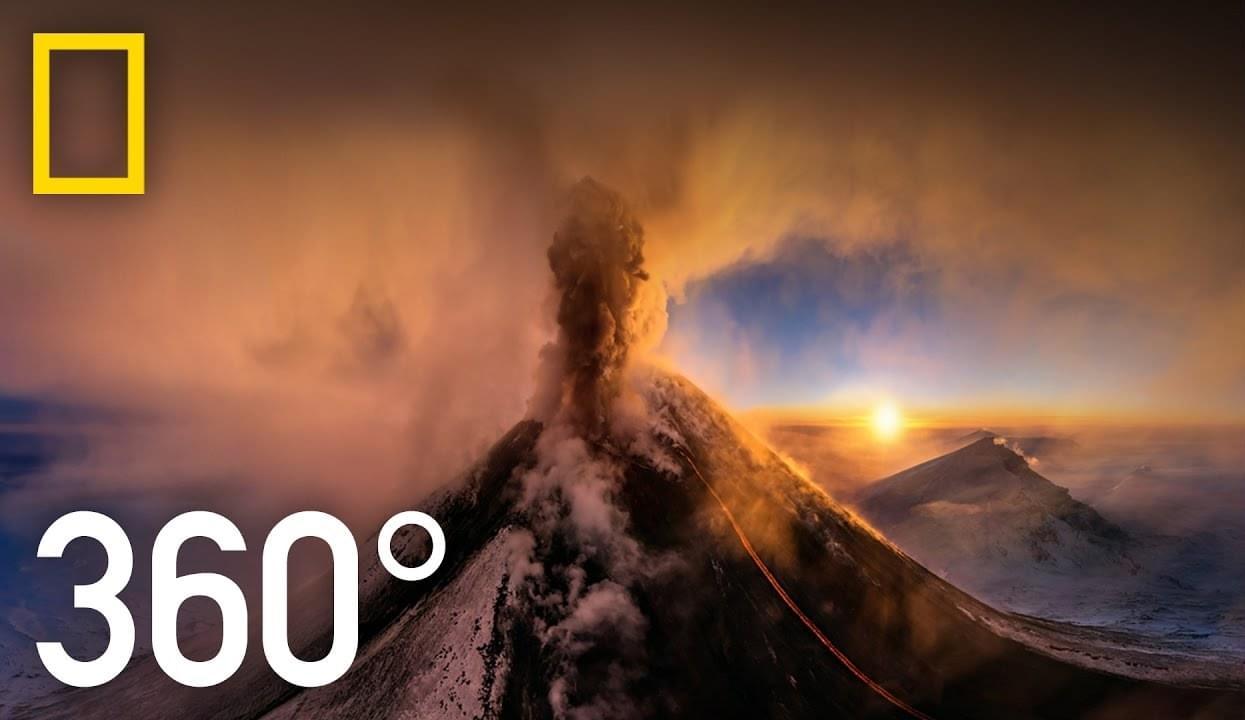 Новое видео в формате 360-градусов – возможность очутиться в жерле вулкана!