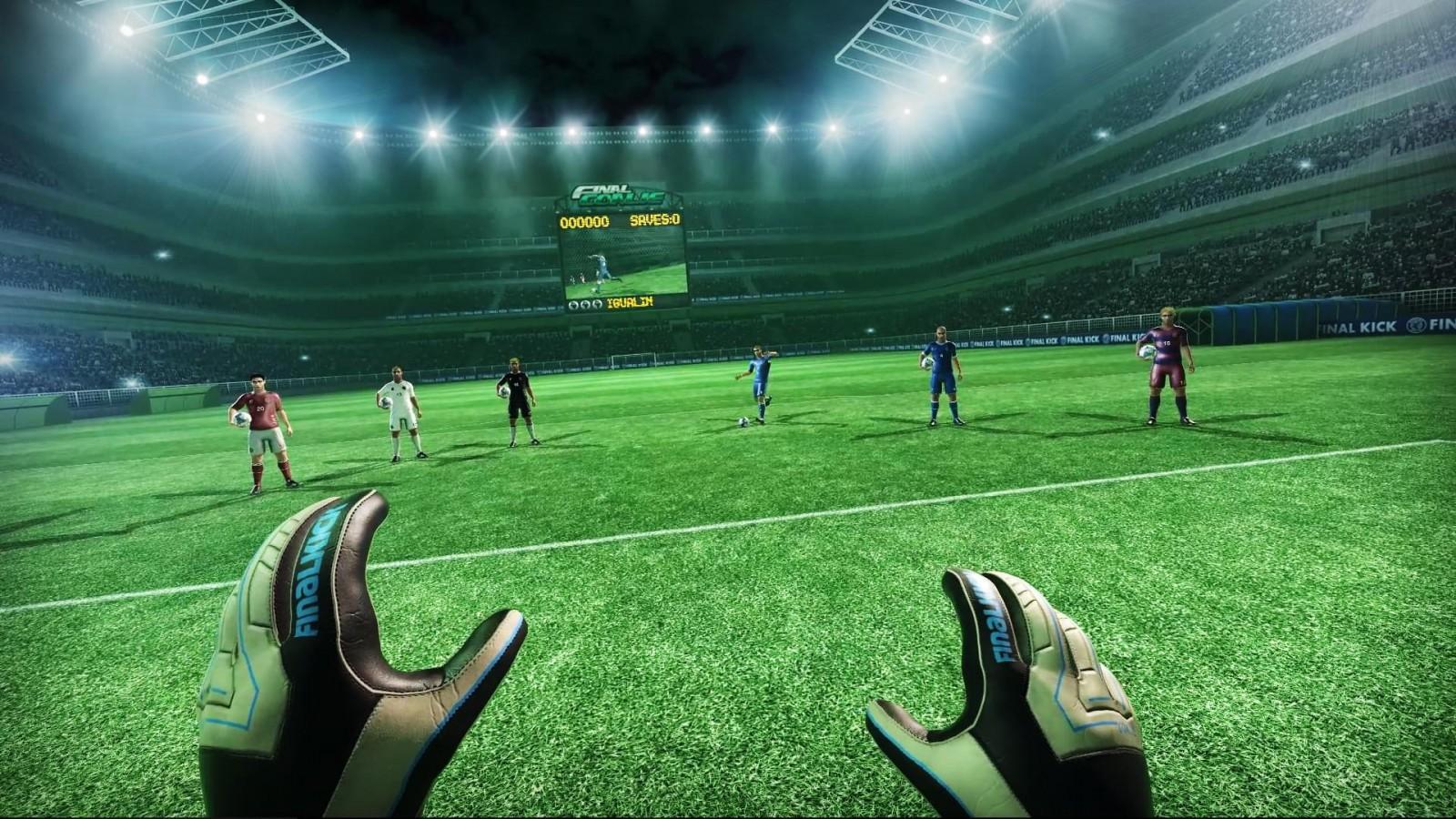 Новое приложение для HTC Vive, или Как стать голкипером?
