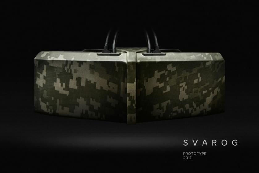 """Российская Компания """"DEUS"""" представила два новых VR-шлема на международном форуме """"Армия 2017""""."""