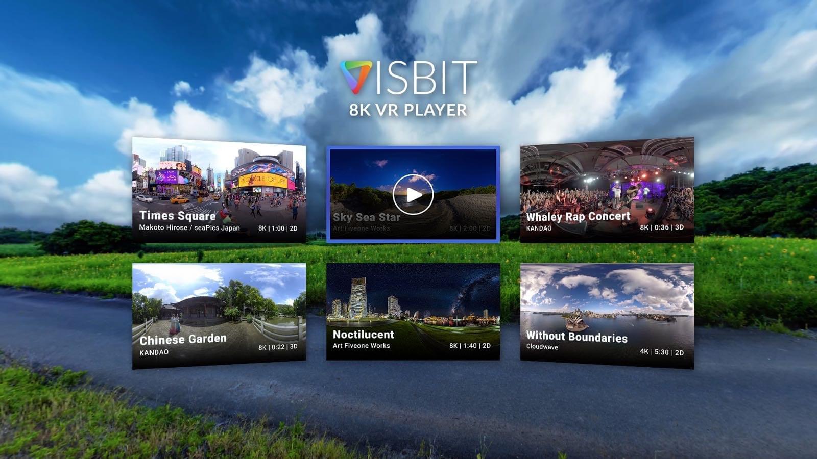 Плеер Visbit 8K VR для гарнитуры Vive Focus