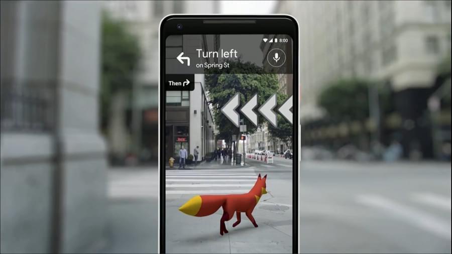 Google разрабатывает технологию визуальной AR навигации