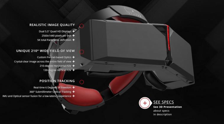 Новая VR гарнитура StarVR может стать конкурентом Pimax