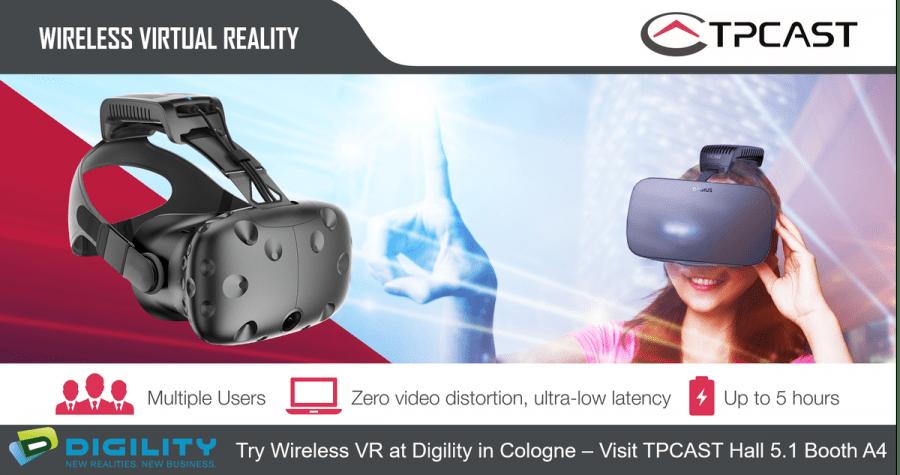 TPCAST продемонстрирует на Digility Expo многопользовательский беспроводной VR