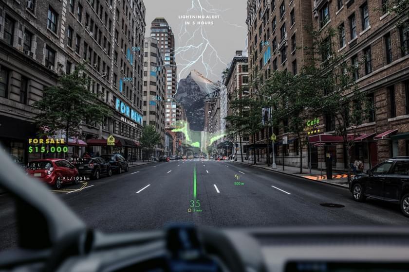 Новая AR система для лобового стекла Porsche и Hyundai выглядит как видеоигра