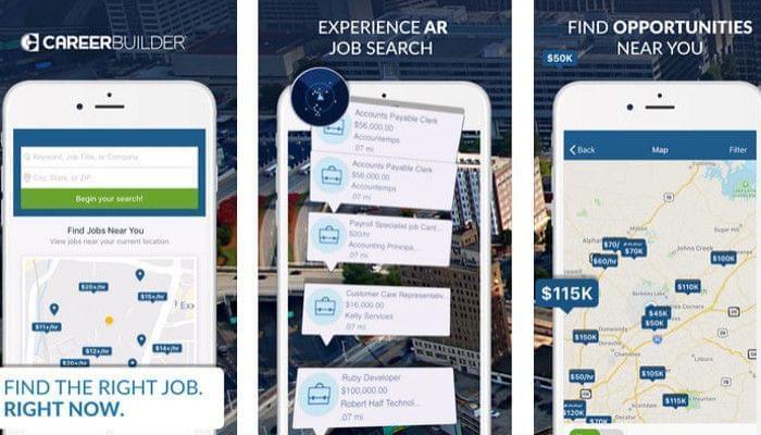 AR приложение CareerBuilder переносит поиск работы в дополненную реальность