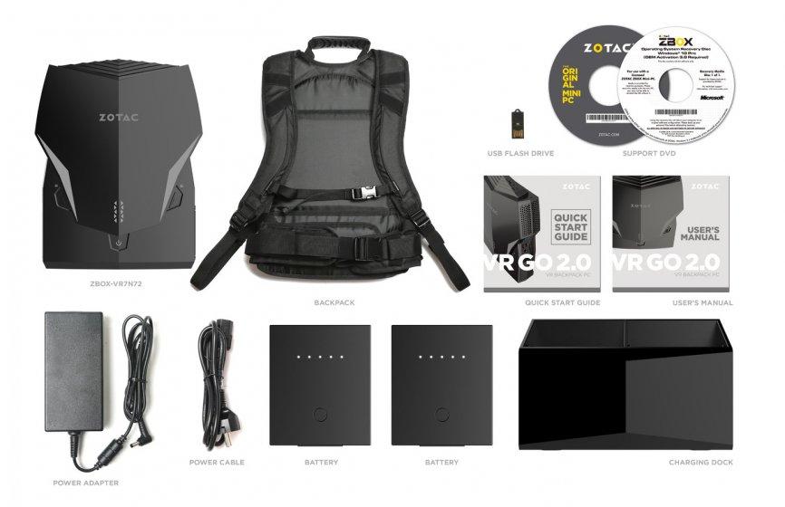 ZOTAC объявляет о выпуске рюкзачного ПК VR GO 2.0