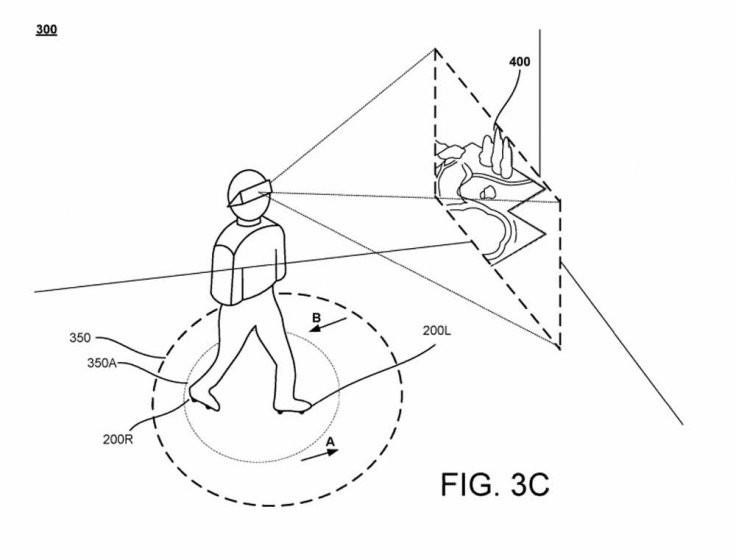 Google патентует кроссовки для VR