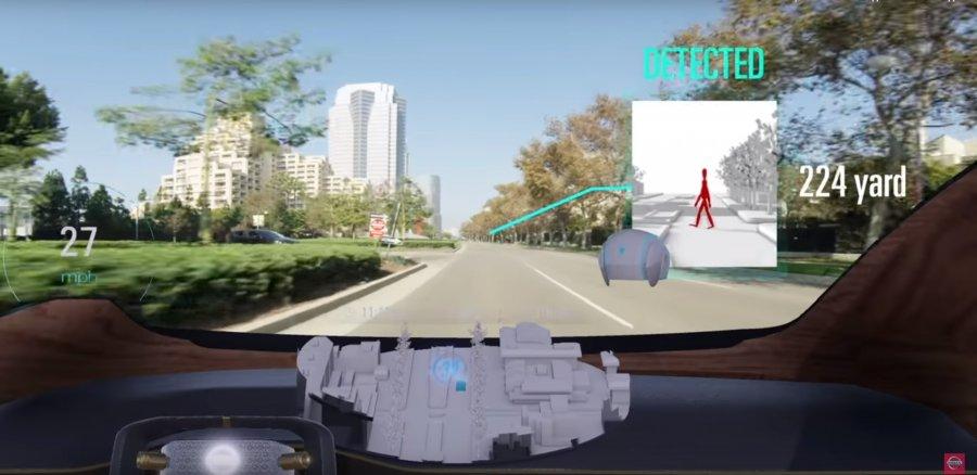 AR решение от Nissan помогает водителям обнаружить невидимые препятствия