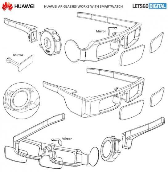 Huawei патентует AR очки, соединяющиеся со смарт-часами