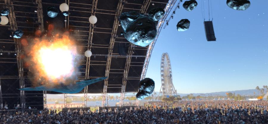 Фестиваль Коачелла предлагает зрителям потрясающий интерактивный AR опыт