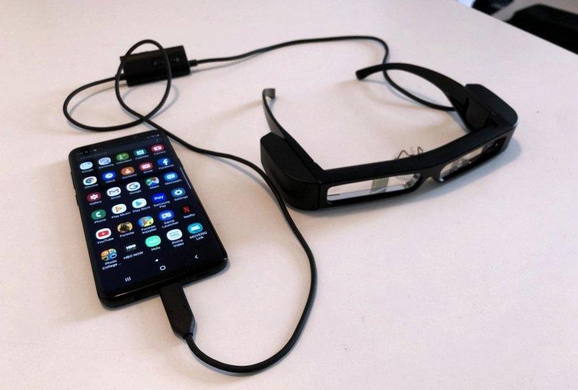 Новые AR очки Moverio от Epson совместимы со смартфоном и PC