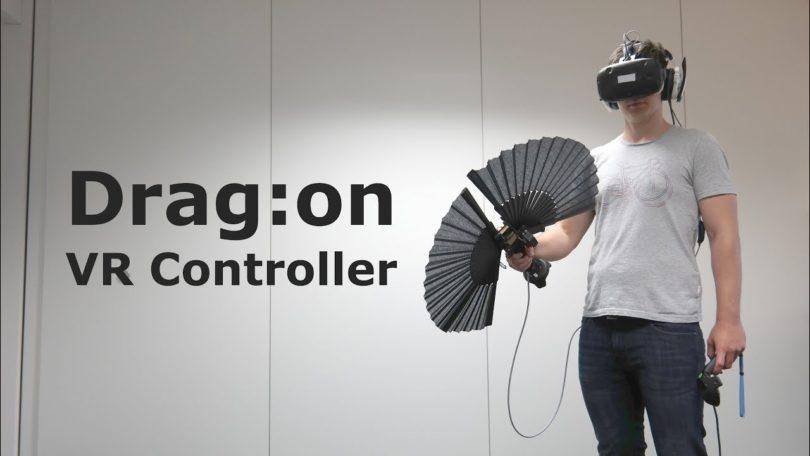Необычный складной гаптический VR контроллер Drag:on