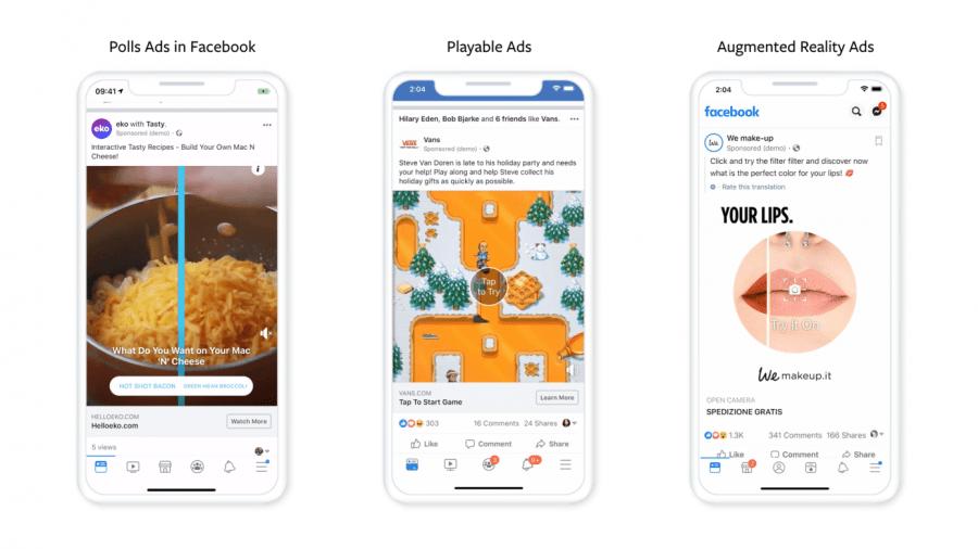 Facebook заявил о расширении трех интерактивных форматов рекламы