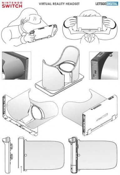 Nintendo патентует новый корпус для своей гарнитуры Labo VR