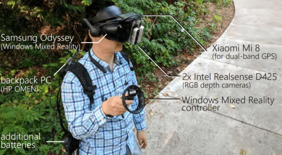 Microsoft соединила прогулки в реальном мире с VR