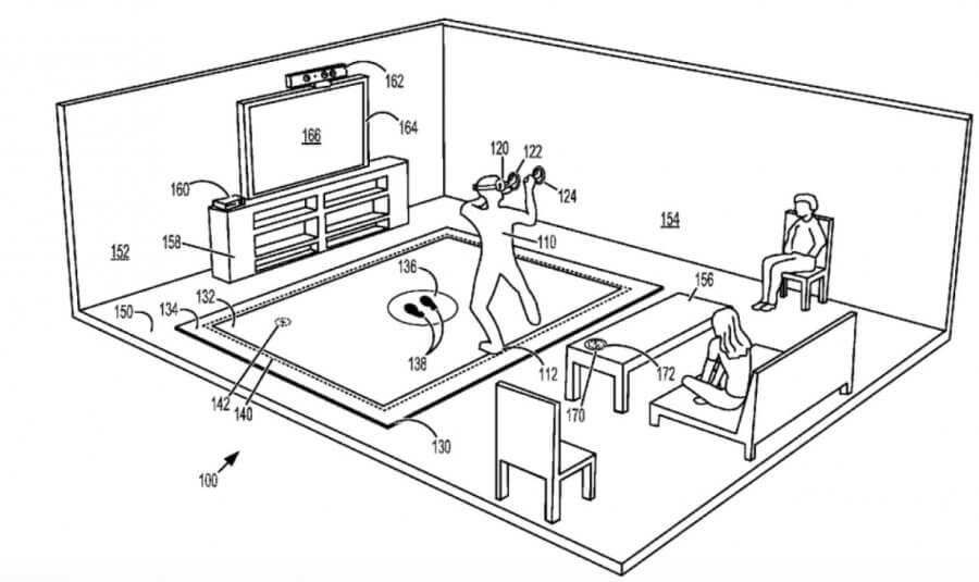 Microsoft подала патент на коврик для VR