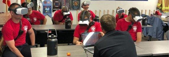Калифорнийские пожарные тренируются при помощи VR