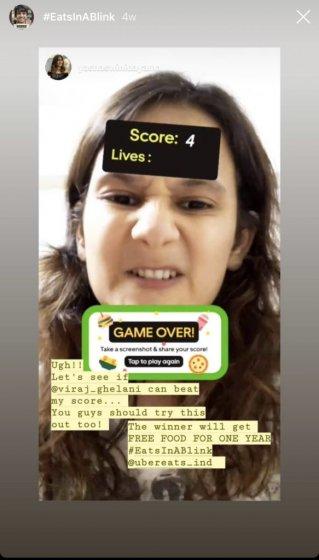 Более миллиона человек поиграли в Instagram AR-игру от Uber Eats India