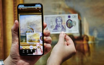 Банк Англии выпускает банкноты, на которых можно увидеть картины Тёрнера при помощи AR и Snapchat