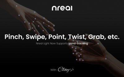 Nreal внедряет отслеживание рук для AR-очков Light