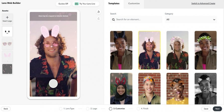 Snapchat запускает Lens Web Builder для упрощения создания AR-фильтров