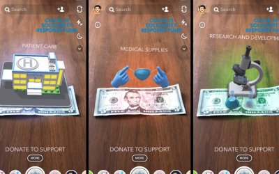 Новый фильтр для Snapchat предлагает пожертвовать небольшую сумму на борьбу с пандемией коронавируса
