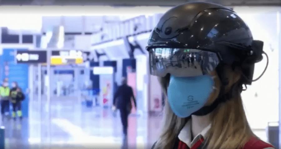 Итальянский аэропорт использует тепловизионные AR-гарнитуры для выявления потенциальных больных