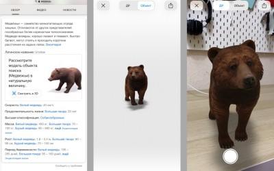 Google 3D модели животных, частей тела, органов и клеток в поиске: полный список