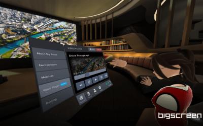 Bigscreen добавила функцию видеоплеера для просмотра собственных фильмов
