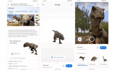 Google добавила AR-модели динозавров в результатах поиска