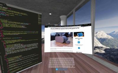 Приложение Immersed предлагает высокую скорость печати в VR