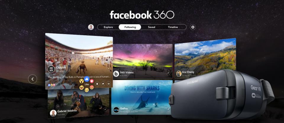 Приложение для Samsung Gear VR покорит пользователей социальной сети