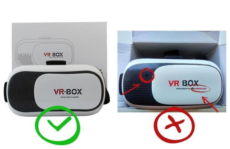 Как отличить подделку Vr Box от оригинала